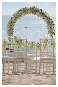 Phuket beach wedding venue setup