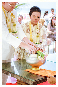 traditional thai marriage buddhist wedding ceremony phuket