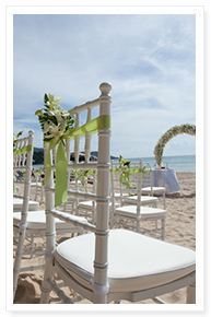 phuket beach wedding setup