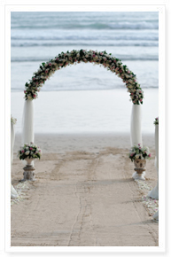 Phuket beach wedding ceremony setup