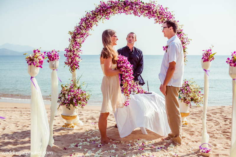 Small Budget Cheap Beach Wedding Ceremony Phuket