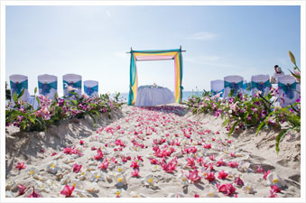 Marriage and wedding reception venues in phuket beach wedding venue setup at phuket junglespirit Gallery
