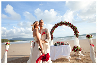 Phuket wedding beach setup